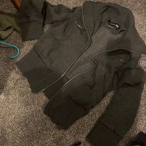 Grey zipper jacket